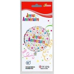 Ballon PVC hélium Joyeux Anniversaire