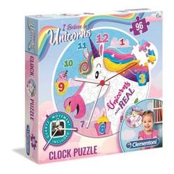 Puzzle horloge licorne 96 pcs
