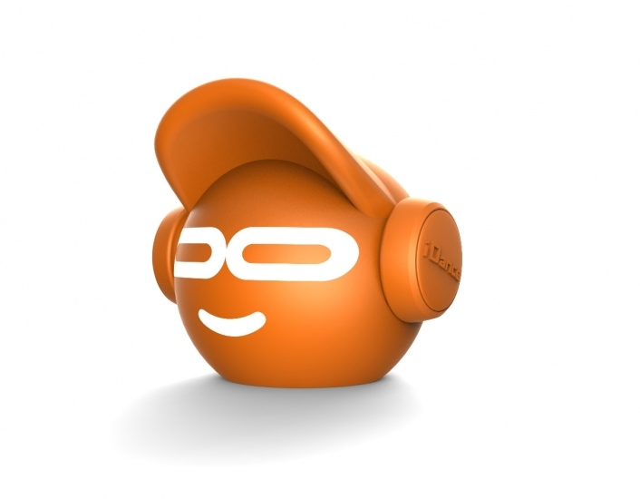 Enceinte Bluetooth iDance Beat Dude Mini - Orange