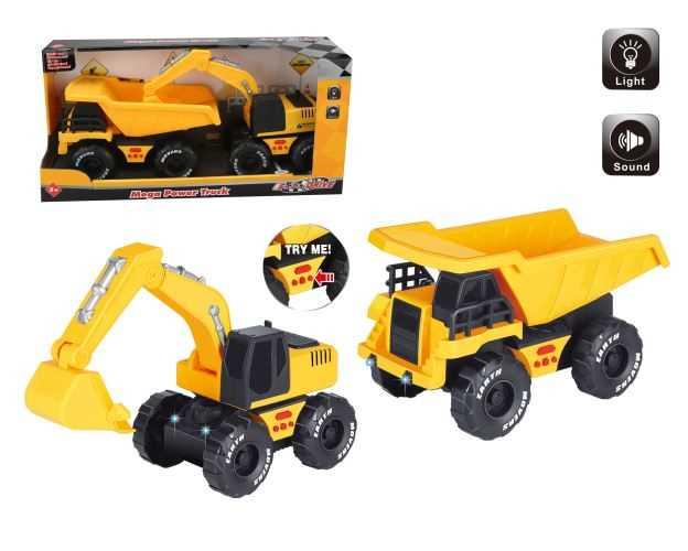 Set de 2 véhicules de chantier