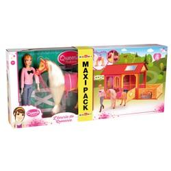 Maxi Pack Ecurie avec cheval et poupée