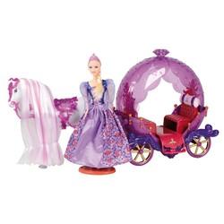 Calèche avec cheval et poupée