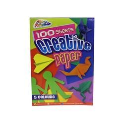 Bloc papier créatif A4 - 100 feuilles - 5 couleurs