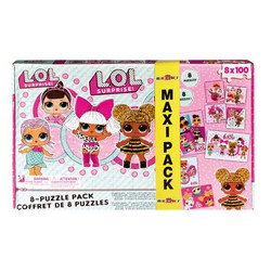 Maxi Pack - Coffret 8 puzzles LOL Surprise!