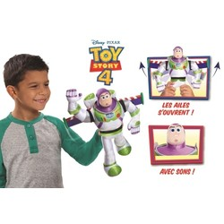 Toy Story 4 - Peluche interactive Buzz l'Eclair