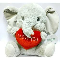 Peluche éléphant avec coeur