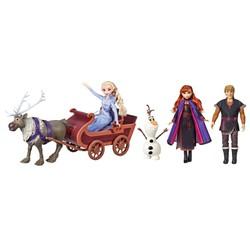 Coffret Traîneau et poupées La Reine des Neiges 2