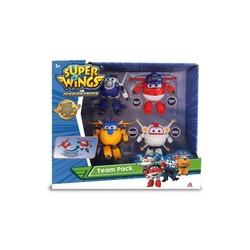 Super Wings - Coffret de 4 figurines transformables 12 cm