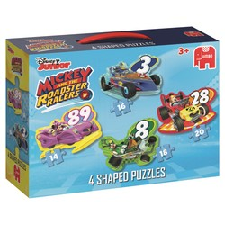 Disney - 4 puzzles forme Mickey and the Roadster Racers