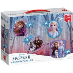 Disney - 4 puzzles forme La Reine des Neiges 2