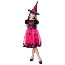 Déguisement Halloween Deluxe - Sorcière Rose/Noire - Taille 110