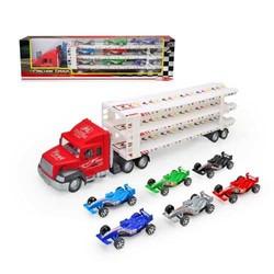 Camion de transport avec 9 voitures