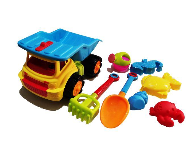 Camion de plage 33 cm avec accessoires