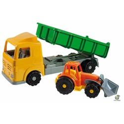 Camion benne + véhicule chantier