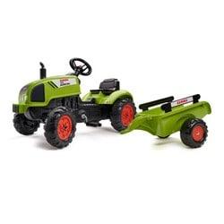 Tracteur Claas Arion 410 avec remorque