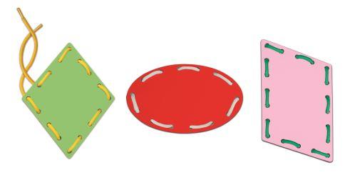 Montessori - Les formes et les lacets