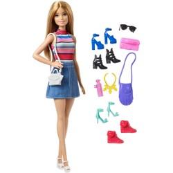 Coffret Barbie et ses accessoires de mode multicolores
