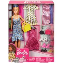 Barbie - Coffret poupée et tenues de mode