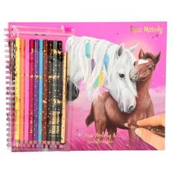 Miss Melody - Album de coloriage + crayons