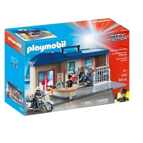 Commissariat de police transportable - PLAYMOBIL City Action - 5689