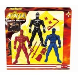 Set de 3 figurines Ninja ou SWAT
