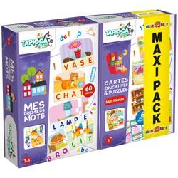 Maxi Pack - Mes premiers mots +  Cartes éducatives & Puzzle