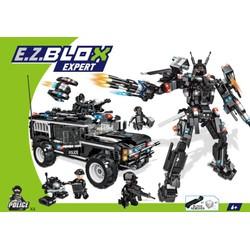Véhicule SWAT + robot géant