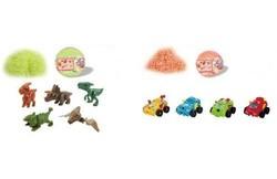 Boule surprise 2 en 1 - Thème Dinosaures et Véhicules