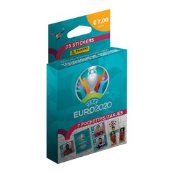 Blister de 7 pochettes de stickers UEFA EURO 2020