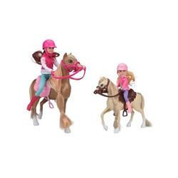 Qweenie et Lily à cheval