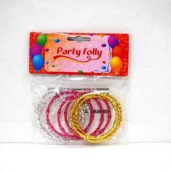 9 Bracelets Métal Glitter