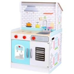 Cuisine et maison de poupée en bois 2 en 1
