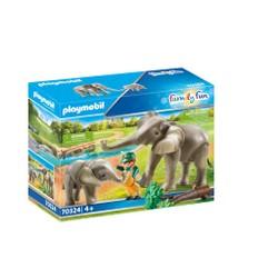 Eléphants et soigneur - PLAYMOBIL Family Fun - 70324