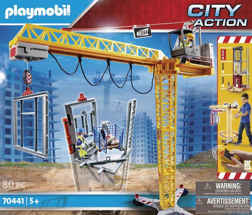 Grue radio-commandée avec mur de construction - PLAYMOBIL City Action - 70441