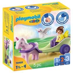 Calèche avec licorne et fée - PLAYMOBIL 1.2.3 - 70401