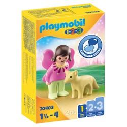 Fée avec renard - PLAYMOBIL 1.2.3 - 70403