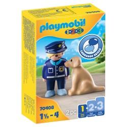 Policier avec chien - PLAYMOBIL 1.2.3 - 70408