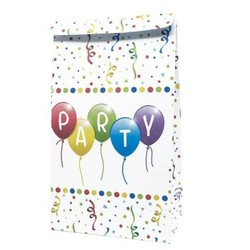 4 Pochettes cadeaux en papier Happy Birthday Streamers