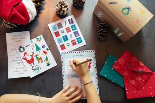 Coffret créatif - La lettre au Père Noël