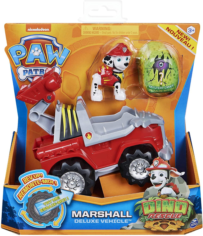 Pat  Patrouille Dino Rescue - Véhicule Deluxe + figurine Marcus