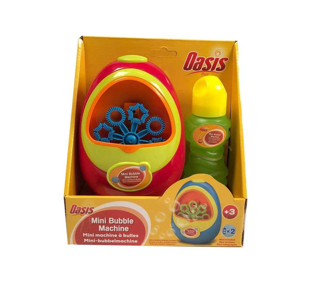 Mini machine à bulles + solution 120 ml