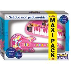 Maxi Pack Duo Mon petit musicien - Rose