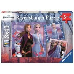 Puzzle 3x49 pièces - Frozen II: Le voyage commence