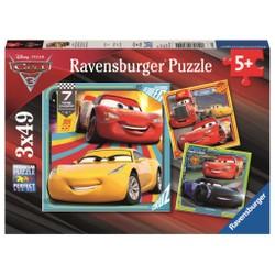 Puzzle 3x49 pièces - Cars 3