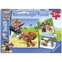 Puzzle 3x49 pièces - Pat' Patrouille: L'équipe des 4 pattes