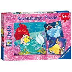 Puzzle 3x49 pièces - Disney Princess: Aventures des princesses