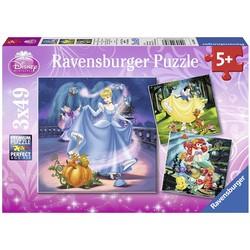 Puzzle 3x49 pièces - Disney Princesses