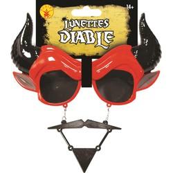 Lunettes + moustache & Barbichette Diable