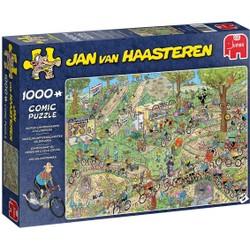 Puzzle 1000 pièces Comic Jan van Haasteren - Championnat du monde de cyclo cross