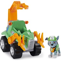 Pat' Patrouille Dino Rescue - Véhicule Deluxe + figurine Rocky